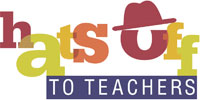 hats off to teachers logo
