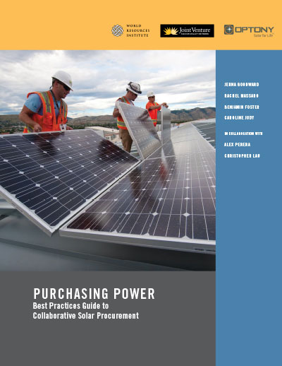cover image of workers installing solar panels