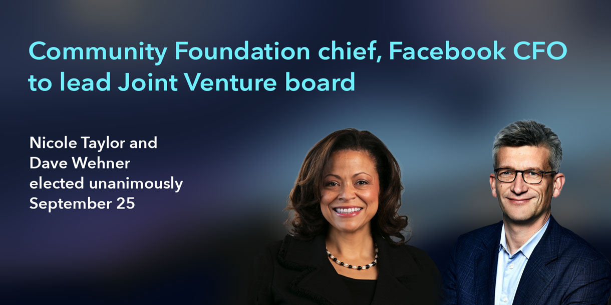 Community Foundation chief, Facebook CFO take the reigns
