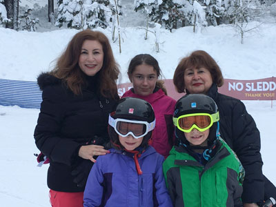 Edesa and her family skiing