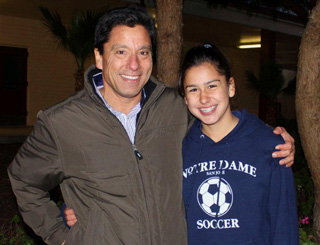 Fred Diaz and daughter photo