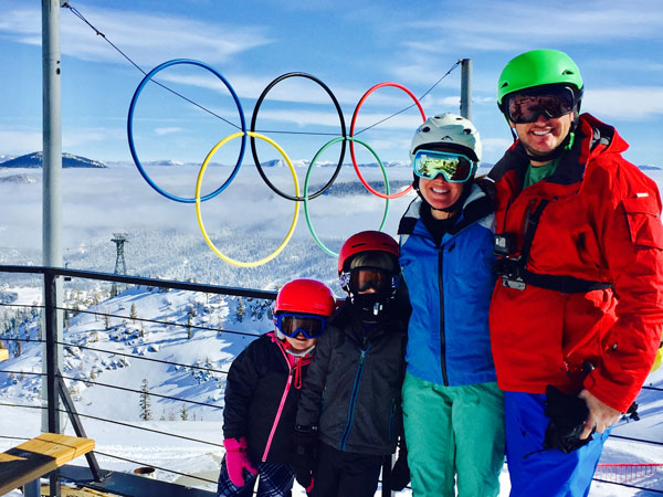 Greg Matter and family skiing