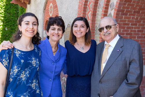 Mary Papazian with family