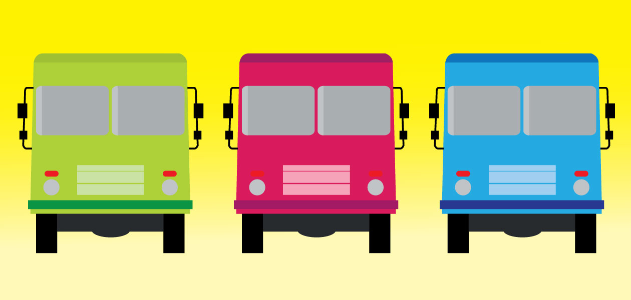 colorful food truck graphic