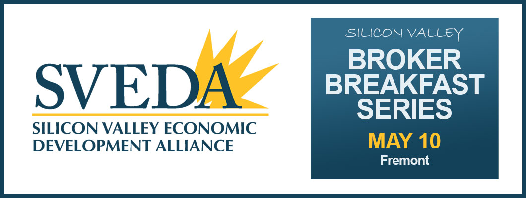 SVEDA logo and broker breakfast banner