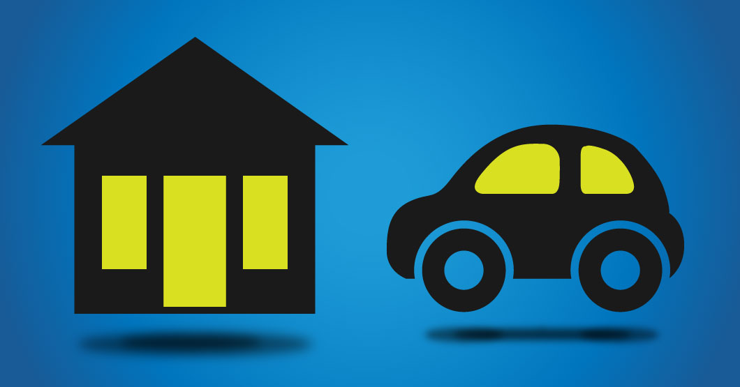 house and car graphic