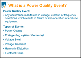 What is a power quality event?