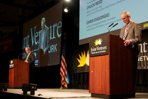 Co-chairs Chris DiGiorgio and Chuck Reed give presentation at 2013 State of the Valley conference