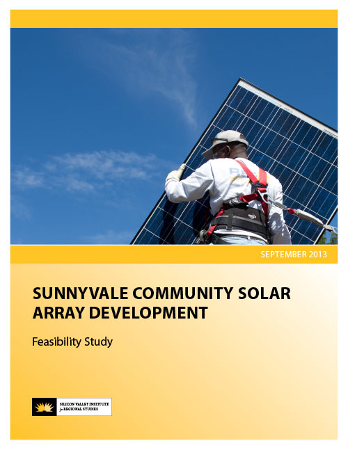 Sunnyvale Community Solar Array Development Feasibility Study cover